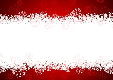 snowflakes background for winter and christmas theme Illustration