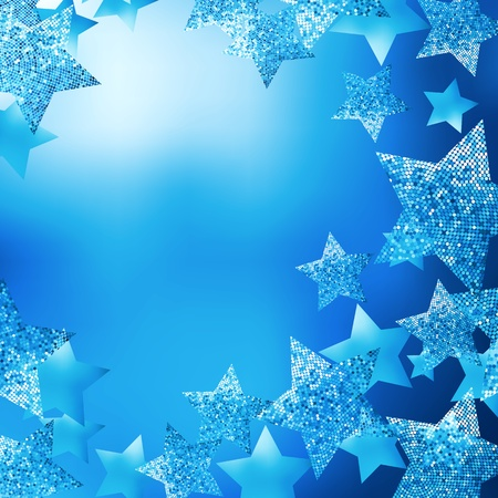 blue star background: Christmas stars background