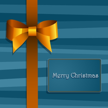 blue bow: Christmas gift box with  bow