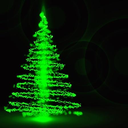 Christmas tree on background Ilustrace