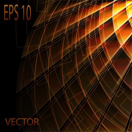 Gold stylish fantasy background  Vector