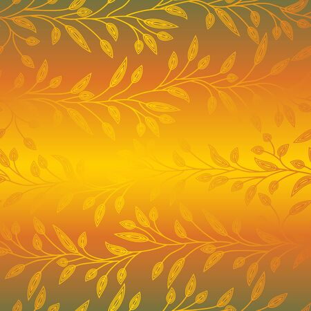 autumn yellow leaf seamless background Vector