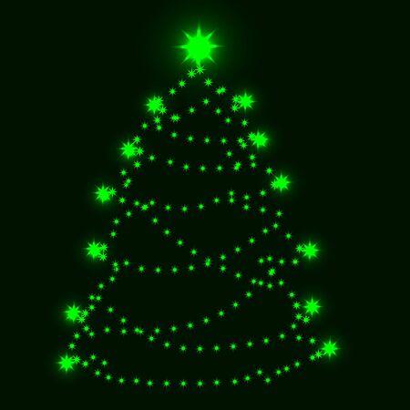 Christmas tree  Stock Vector - 10609269