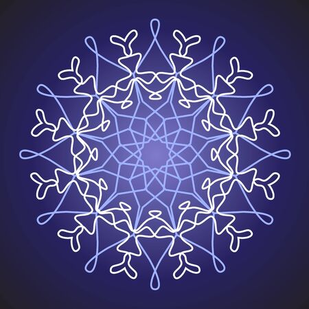 white snowflake on a blue background Stock Vector - 10648489