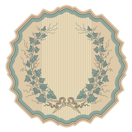 vintage labels set, vector