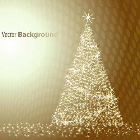 brown backgrounds: Christmas tree on brown background