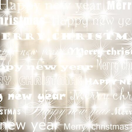 new years resolution: christmas background  Illustration