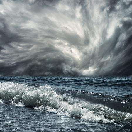 a large wave at sea