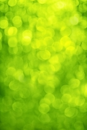 defocused: blur, green background, circles of light