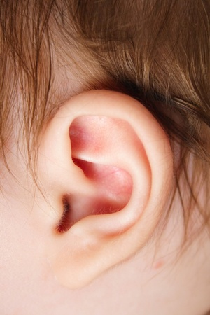 listening to people: picture of the child Stock Photo