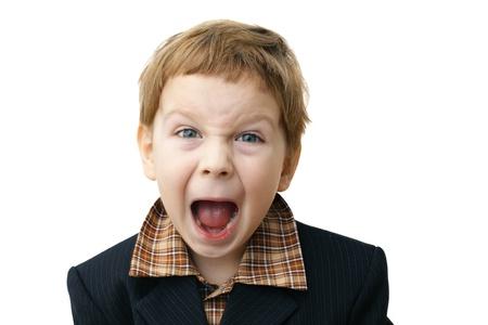 niño llorando: retrato de niño