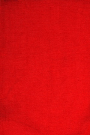 cotton velvet: texture of natural fabric red  Stock Photo