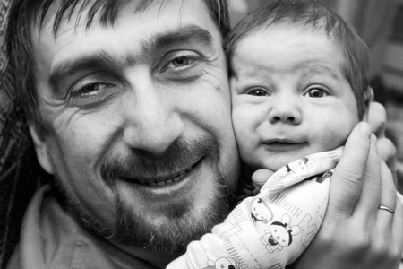 portrait of father and son Stock Photo - 10965716