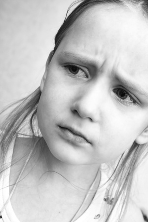 portrait of a sad girl Stock Photo - 10965655