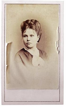 Weinlese-Portr�t von Frau Anfang 20 Jahrhundert auf den Hintergrund.