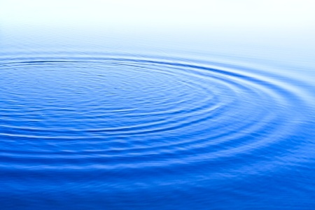 ripple effect: blue background with waves,  surface water