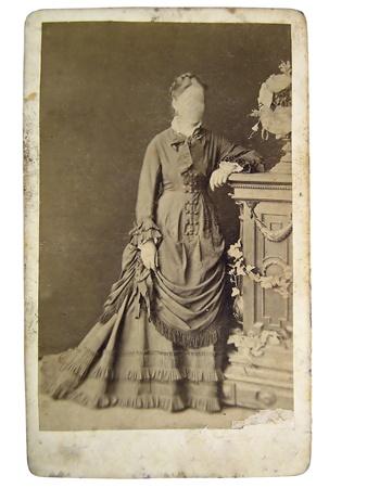 Vintage Portr�t der Frau im sp�ten 19. Jahrhundert auf den Hintergrund. Sie k�nnen mit dem Rahmen oder f�gen Sie Ihrem Gesicht. Lizenzfreie Bilder