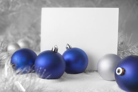 blue christmas ball photo