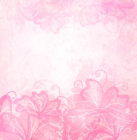 birthday flowers: Romantic Background  Illustration