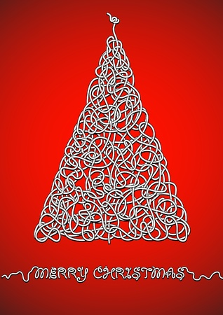 skein: abstract card for Christmas
