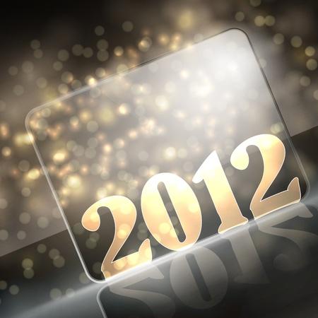 vector new year 2012 beautiful design Stock Vector - 11564440