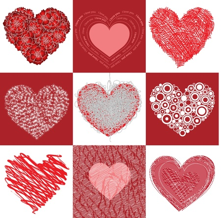Group heart Stock Vector - 12078722