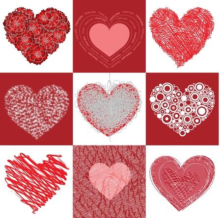 Group heart Stock Vector - 12078722