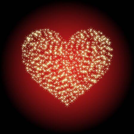 heart of the stars Stock Vector - 12078736