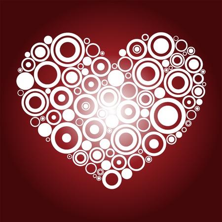 Red heart Stock Vector - 12078729