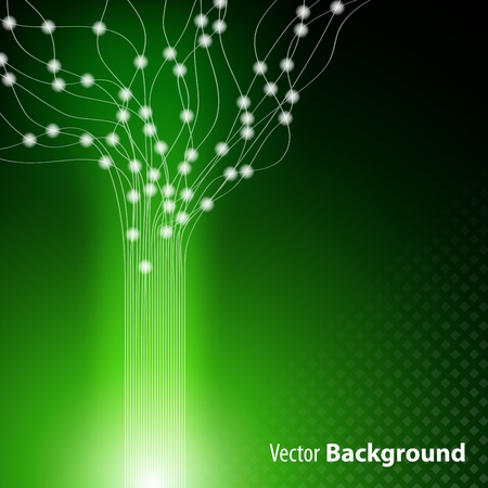 green stylish fantasy background Vector