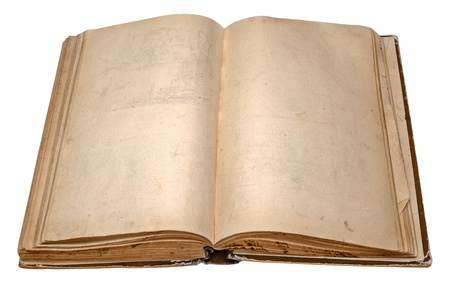open diary: old open book