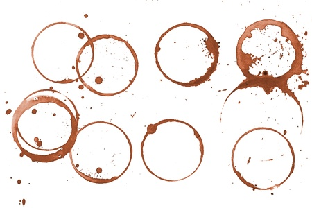 isolated spot: Coffee stains