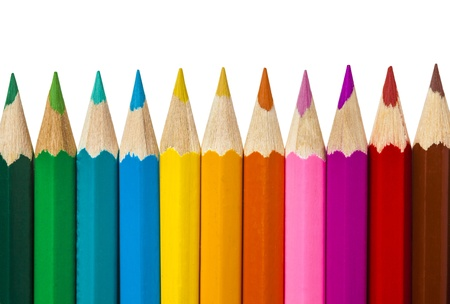 colored pencils 写真素材