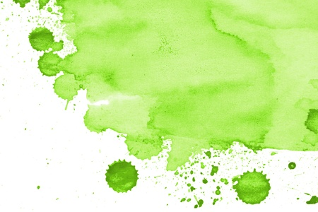 watercolor paper painted green on white watercolor
