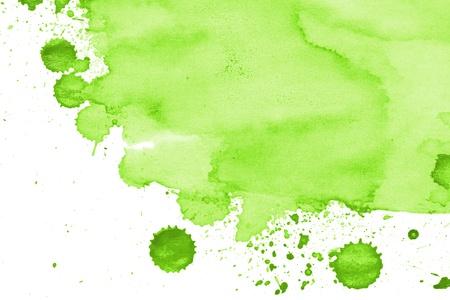Aquarellpapier gemalt gr�n auf wei�em Aquarell Lizenzfreie Bilder