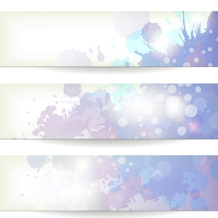 watercolor paper: background with splashes of colors of blue and purple