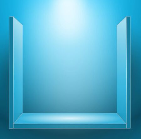 background with shelf bulk blue Vector
