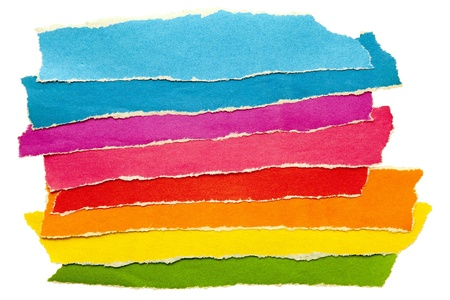 a group of colored paper