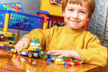 handsome boy designs with blocks Standard-Bild