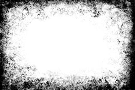 흑백 grunge 프레임