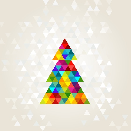christmas tree in rainbow colors Stock Vector - 15701425