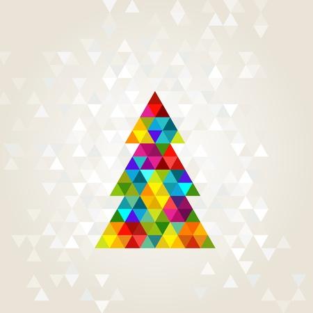 kerstboom in regenboogkleuren Stock Illustratie