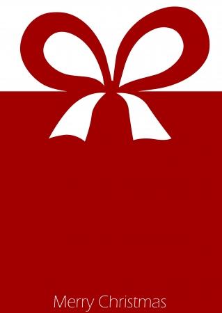 cajas navide�as: Presente con el arco de la cinta roja