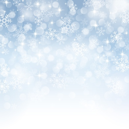 winter background with beautiful various snowflakes Stock Vector - 16110779