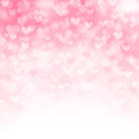 Vector achtergrond met mooie roze hartjes Stockfoto - 17730731