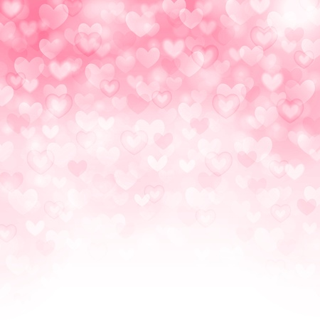 Vector background with beautiful pink hearts Illustration