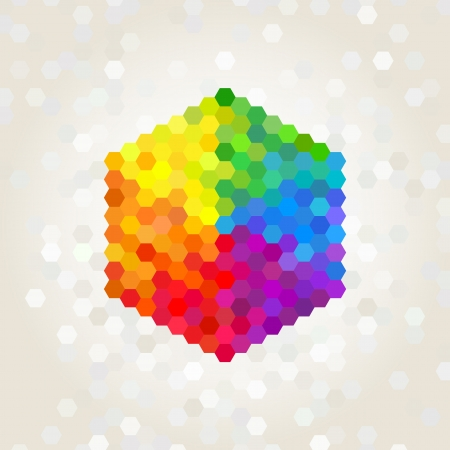 geometric figure, the background color of the rainbow Vector