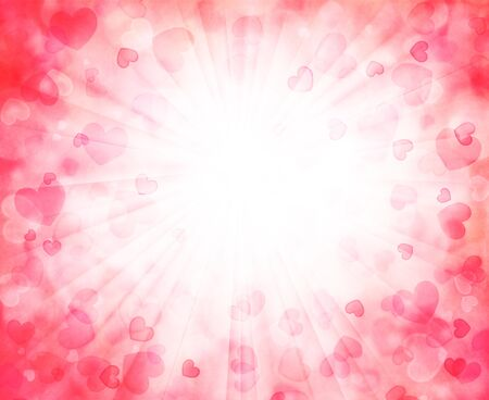 Vector background with beautiful pink hearts Stock Photo - 17730733