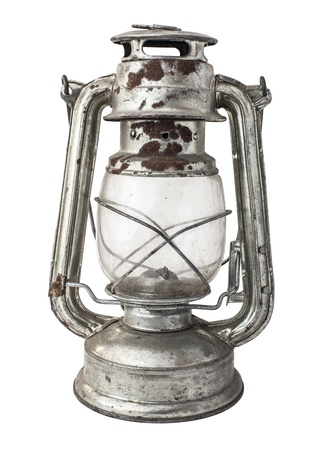 kerosene lamp on a white background photo
