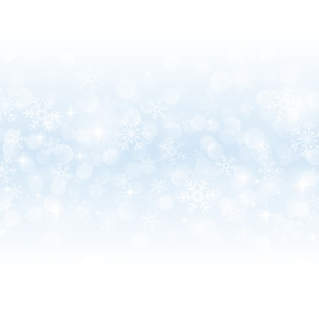 winter background with beautiful various snowflakes Vector